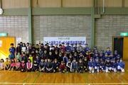 七飯町スポーツ少年団本部卒団式の集合写真